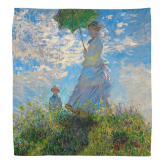 Woman with a Parasol Claude Monet Impressionist Bandana