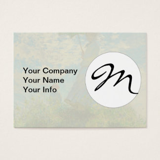 Woman with a Parasol Claude Monet Impressionist Business Card