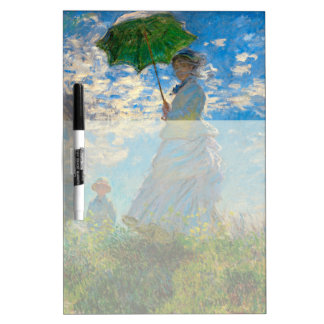 Woman with a Parasol Claude Monet Impressionist Dry-Erase Boards