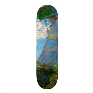 Woman with a Parasol Claude Monet Impressionist Skateboard