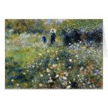Woman with a Parasol in a Garden, Renoir Card