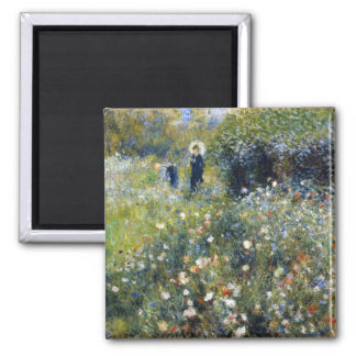 Woman with a Parasol in a Garden Renoir Magnets