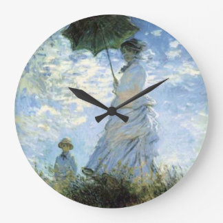 Woman with a Parasol Large Clock