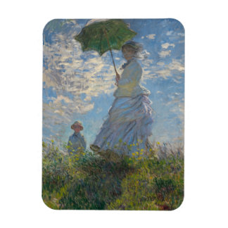 Woman with a Parasol - Madame Monet and Her Son Magnet
