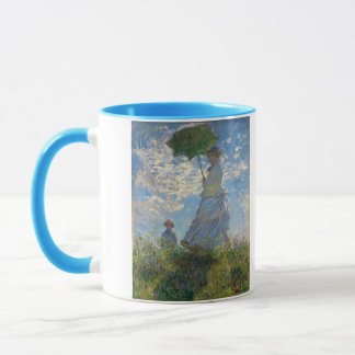 Woman with a Parasol - Madame Monet and Her Son Mug