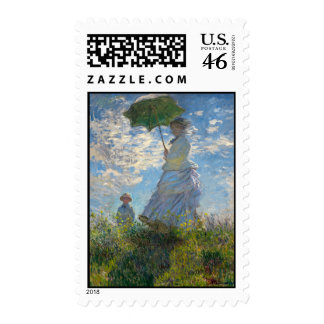 Woman with a Parasol - Madame Monet and Her Son Stamps