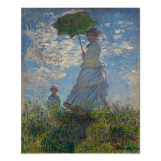 Woman with a Parasol - Madame Monet and Her Son Poster