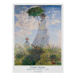 Woman with a Parasol - Madame Monet and Her Son Print