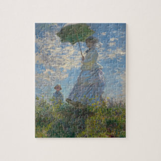 Woman with a Parasol - Madame Monet and Her Son Jigsaw Puzzle