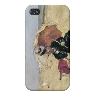 Woman with a Parasol on the Beach, 1880 iPhone 4/4S Cases