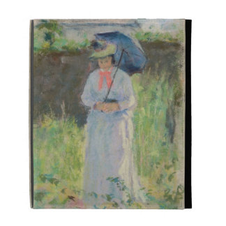 Woman with a Parasol (pastel on paper) iPad Case