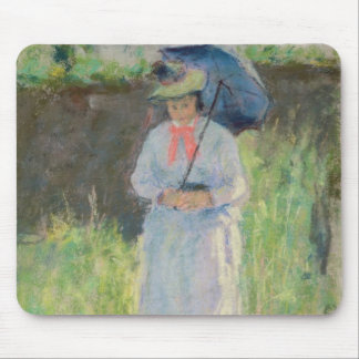 Woman with a Parasol (pastel on paper) Mouse Pad