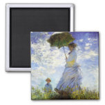 Woman with a Parasol Refrigerator Magnet