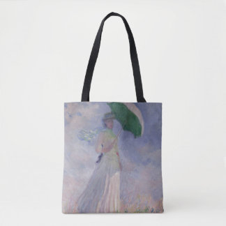 Woman with a Parasol turned to the Right, 1886 Tote Bag