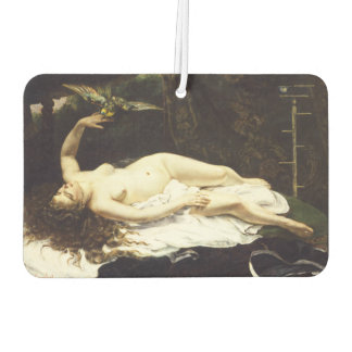 Woman with a Parrot by Gustave Courbet Car Air Freshener