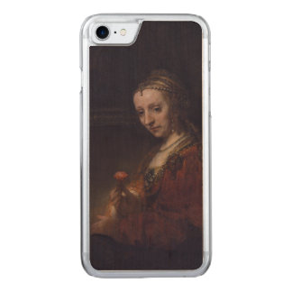 Woman with a Pink Carnation by Rembrandt van Rijn Carved iPhone 7 Case