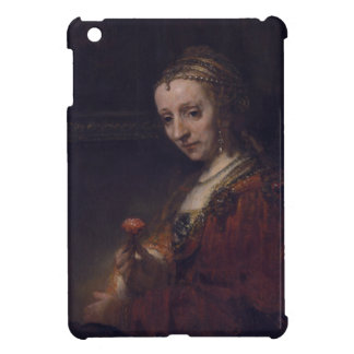 Woman with a Pink Carnation by Rembrandt van Rijn Case For The iPad Mini