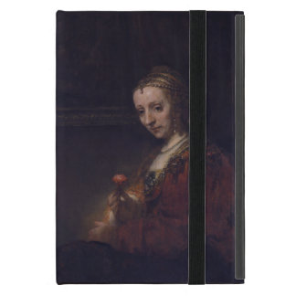 Woman with a Pink Carnation by Rembrandt van Rijn Cover For iPad Mini