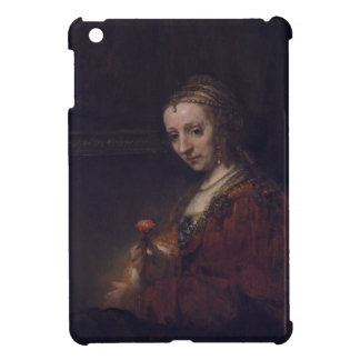 Woman with a Pink Carnation by Rembrandt van Rijn iPad Mini Cases
