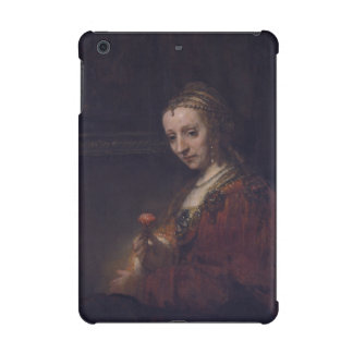 Woman with a Pink Carnation by Rembrandt van Rijn iPad Mini Retina Case