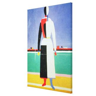 Woman with a Rake, c.1928-32 Canvas Print
