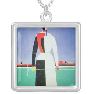 Woman with a Rake, c.1928-32 Silver Plated Necklace