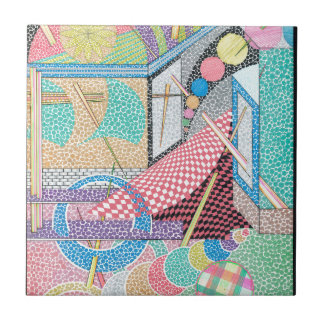 woman with a sword tile