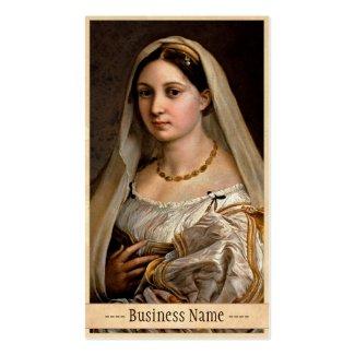 Woman with a veil La Donna Velata Raphael Santi Business Cards