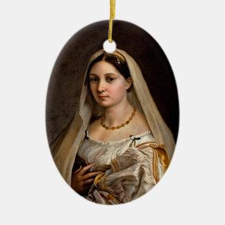 Woman with a veil La Donna Velata Raphael Santi Ceramic Ornament