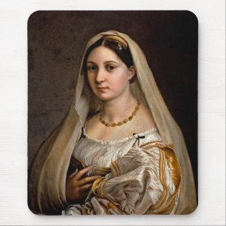 Woman with a veil La Donna Velata Raphael Santi Mouse Pad