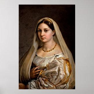Woman with a veil La Donna Velata Raphael Santi Poster