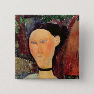 Woman with a Velvet Neckband, c.1915 Button