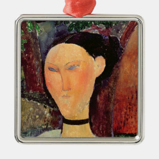Woman with a Velvet Neckband, c.1915 Metal Ornament