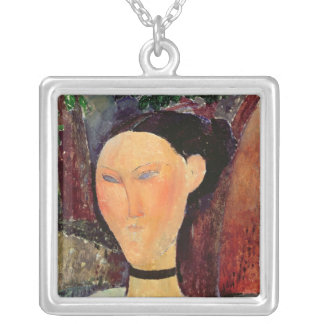 Woman with a Velvet Neckband, c.1915 Silver Plated Necklace
