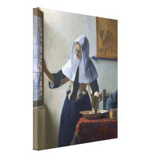 Woman with a Water Jug by Johannes Vermeer Canvas Print