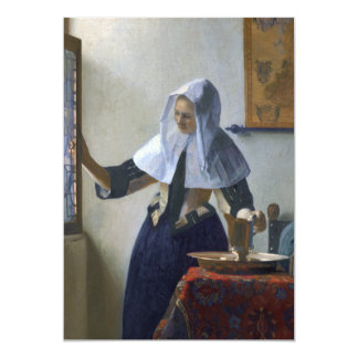 Woman with a Water Jug by Johannes Vermeer Card