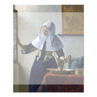 Woman with a Water Jug by Johannes Vermeer Flyers