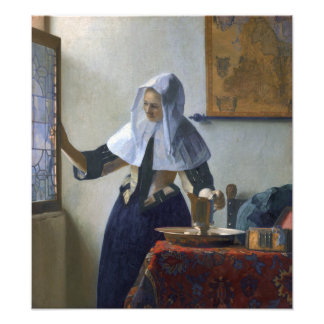 Woman with a Water Jug by Johannes Vermeer Photo Print