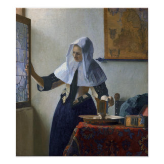 Woman with a Water Jug by Johannes Vermeer Poster