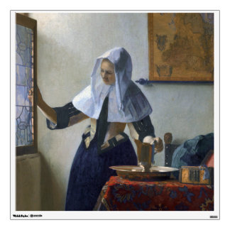 Woman with a Water Jug by Johannes Vermeer Wall Sticker