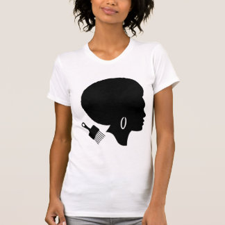 WOMAN WITH AFRO American Apparel T-Shirt