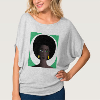 WOMAN WITH AFRO Bella Flowy Circle Top