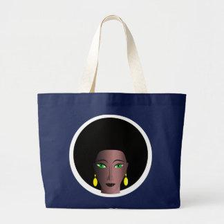 WOMAN WITH AFRO Jumbo Tote Bag