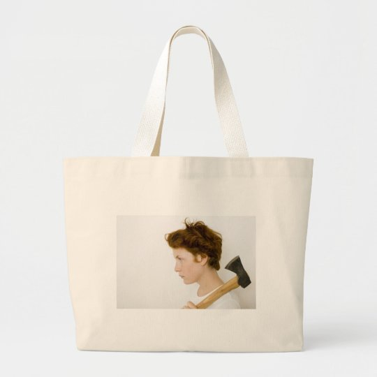 Woman with an attitude large tote bag