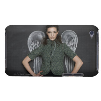 woman with angel wings iPod Case-Mate case