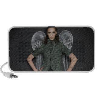 woman with angel wings iPod speaker