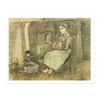 Woman with Baby, Vincent van Gogh Post Card