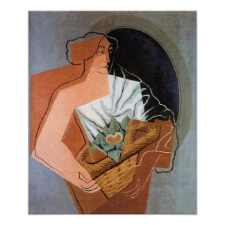 Woman with Basket, by Juan Gris Print
