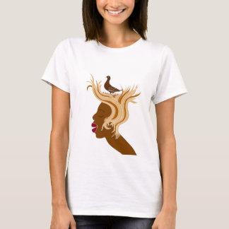 Woman With Bird T-Shirt