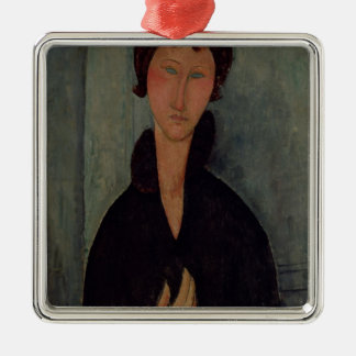 Woman with Blue Eyes, c.1918 Metal Ornament